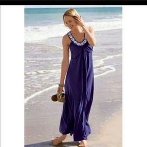Soft Surroundings Maxi Dress Sleeveless Embellish